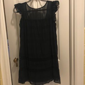 Rebecca Minkoff black cotton dress